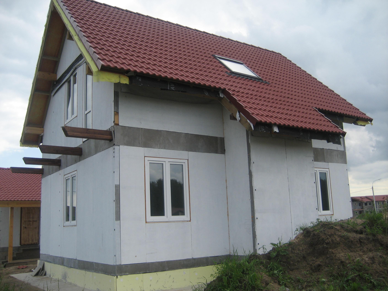 Отделка фасадов здания элементами и